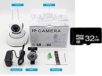Forsea Wireless 1080P HD Pan Tilt Network Home Security CCTV IP Camera Multi-Control Night Vision WiFi Voice Intercom Mobile Alarm House safing artifact Intelligent Webcam