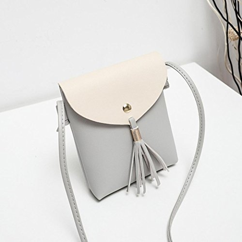 Flecos La Crossbody Gris Monedero Shoulder<fashion Bolso Moneda Del De Hembra Bolso negro Con De Cubierto Bandolera gYwqgFOR