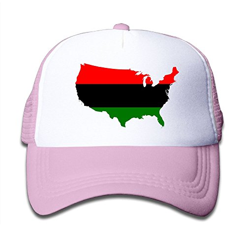 Top DNUPUP Kid's America Africa Flag Map Adjustable Casual Cool Baseball Cap Mesh Hat Trucker Caps for sale
