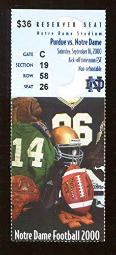 2000 Notre Dame v Purdue Football Ticket 9/16 Notre Dame Stadium Drew Brees