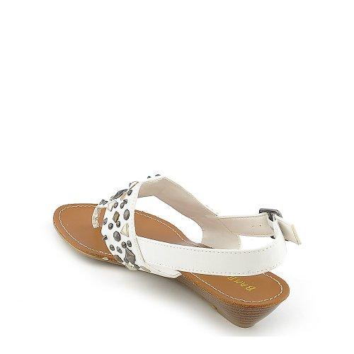 Sandalo Da Donna In Bambù Dalinda-01 Bianco