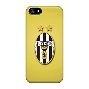 Shock Absorbent Hard Phone Cases For Apple Iphone 5/5s (GZH28633QXed) Customized Lifelike Juventus Fc Series