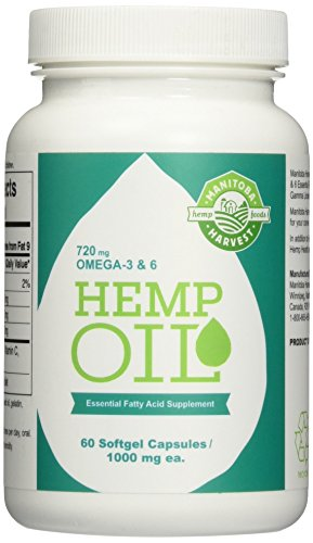 Manitoba Harvest Hemp Foods Hemp Oil Soft Gels, 1000 mg, 60 Count
