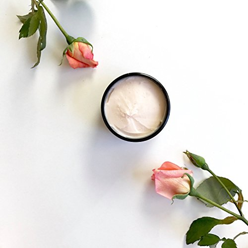 Rose Ylang Ylang Whipped Body Butter | 100% Natural | Organic Coconut Shea Butter Cream | Hands and Body Moisturizer -