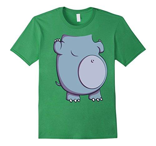 [Mens Hippo Costume T-Shirt for Halloween Hippopotamus Cosplay Tee Medium Grass] (Hippo Costume Amazon)