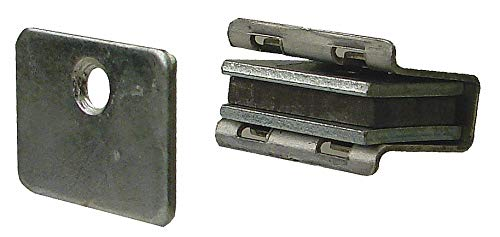 Magnetic Non-locking Magnetic Catch, 1-1/8''H x 13/16''W, Aluminum Finish, pack of 10