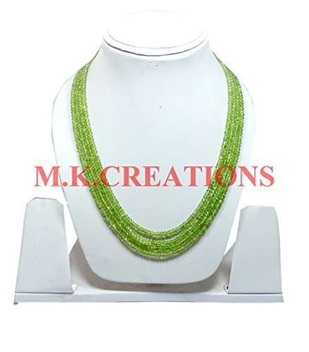 Natural Peridot 3-4mm rondelle faceted beads 16