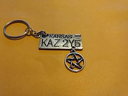 (Supernatural license plate key chain)