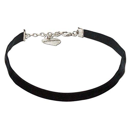 Alpenflüstern Damen Samtkropfband elastisch schwarz DHK07600000