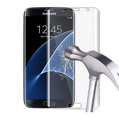 Galaxy S6 Edge Full Coverage Screen Protector, ELECNEWELL™ 3D Curved Full Screen Coverage Tempered Glass Screen Protector 0.26mm Premium for Samsung S6 Edge Bubble-free (Bubble 3d)