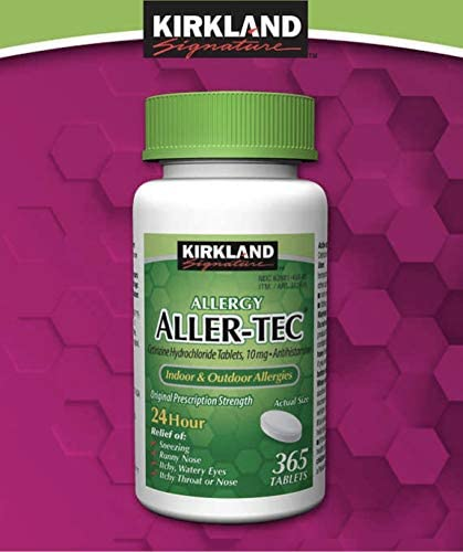 Kirkland Signature Aller Tec Cetirizine Antihistamine