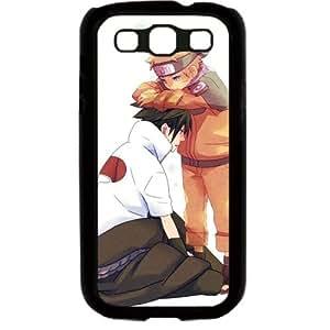 Naruto Manga Anime Comic Uzumaki Naruto Uchiha Sasuke Samsung Galaxy S3 SIII I9300 TPU Soft Black or White case (Black)