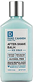 product image for Duke Cannon Supply Co. - Ice Cold Cooling Effect After-Shave Balm, Ice Cold Feeling (6 oz) Cooling After Shave Balm that Closes Pores and Soothes Skins to Prevent Irritation - Sandalwood