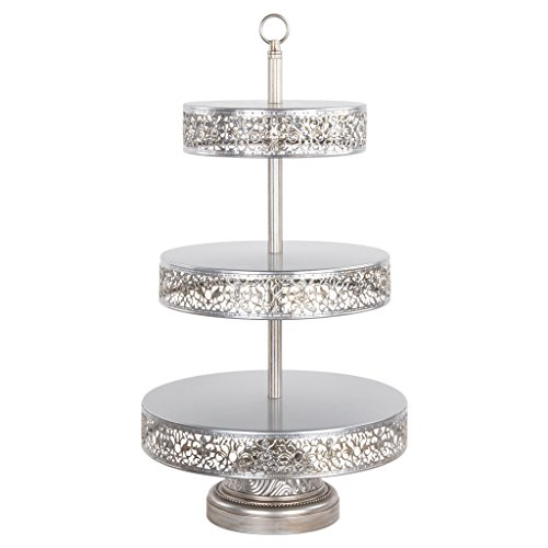 Victoria Collection' 3 Tier Dessert Stand with Reversible Tiers, Cupcake Tower Display, 22