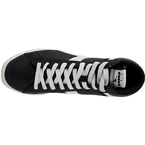 Game Black Diadora White High Men's Shoes L Court Waxed Black 1gzawgqx