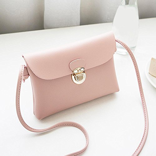 Bags Pink Leather Simple PU Casual Messenger Domybest Shoulder Girls Women Pure Handbags HPPqfv