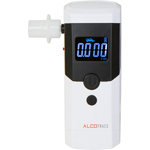 AlcoTrace Elite Portable Alcohol Test Professional Grade Advanced Alcohol Breathalyzers This Police Breathalyzer Kit Includes 5 mouth pieces and Travel Case Dont Get Caught with a Cheap Breathalyzer (Iphone Breathalyzer Shark Tank compare prices)