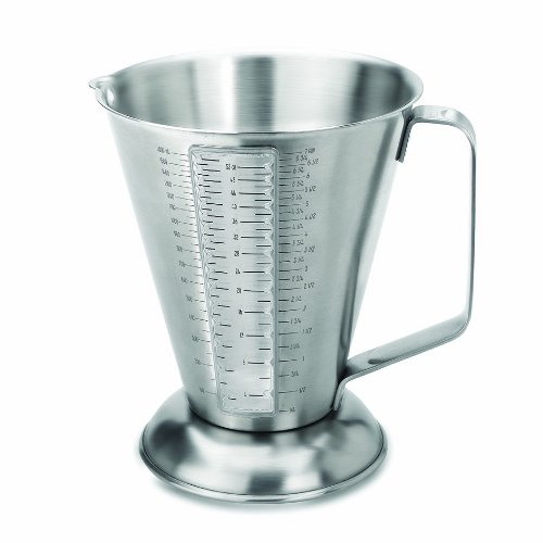 LACOR 67160 ST.STEEL MEASURING CUP W/WINDOW 1.60 LT