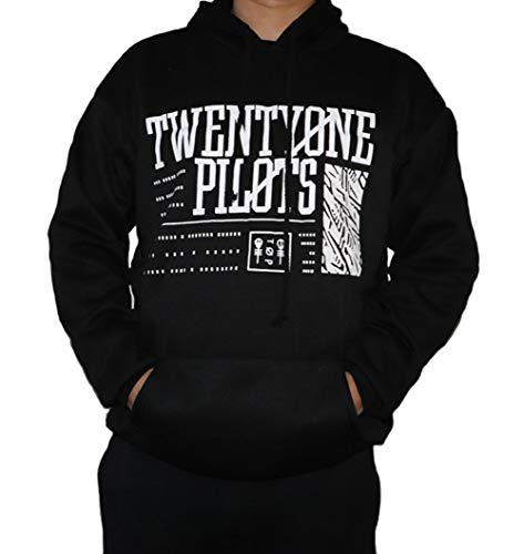 Himart New Band 21 Hoodie Fashion Printed Sweatshirt (Medium) Black