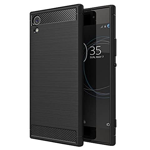 Sony Xperia XA1 Ultra Case Sony Xperia XA 1 Ultra Case Soft TPU Silicone Bumper Back Cover Carbon Fiber Brush Type Phone Shell Bag for Sony Xperia XA1 Ultra (Cell Phones Cases Sony Xperia)