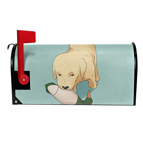 Candy Ran Mail Cover Golden Retriever Dog Magnetic Mailbox Cover Letter Post Box Decoration Welcome Home 25.5x21 in