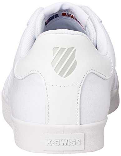 K-Swiss BELMONT T WHITE/GULL GRAY M Herren Sneakers Weiß (Weiss 131)