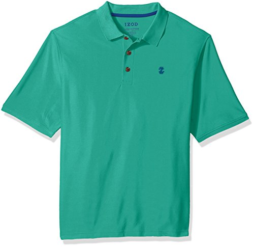 (IZOD Men's Big and Tall Advantage Performance Short Sleeve Solid Polo, Simply Green, X-Large)
