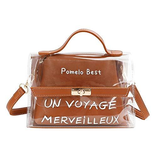4c224f4717a Pomelo tout Marron Fourre Messenger Femme Sac Mini Noir Ajustable Cabas  D épaule Best Bandoulière Transparent ...