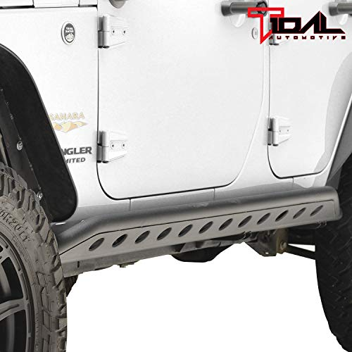 Tubular Side Armor Rocker Guard Rock Sliders for 07-18 Jeep Wrangler JK 4 Door
