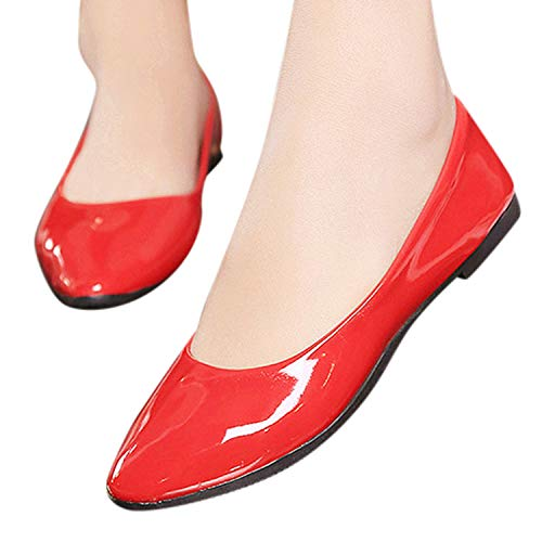 Faionny Women Single Shoes Cute Slip On Ladies Work Shoes Flat Shallow Boat Shoes Casual Ballerina Shoes Summer Office Shoes