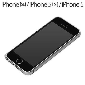 cd9de0f606 iPhoneSE/5s/5ケース Premium Style アルミニウムバンパー ブラック PG-I5EBP03BK