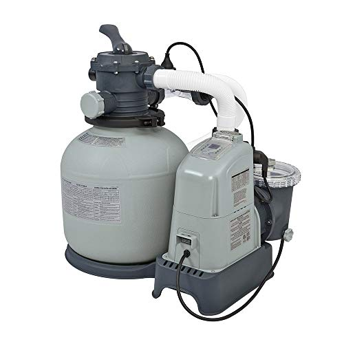 Intex 1600 GPH Saltwater System & Sand Filter Pump Set for A