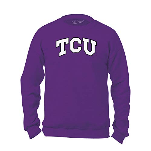 - Elite Fan Shop TCU Horned Frogs Crewneck Sweatshirt Arch Purple - M