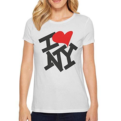 White Women t-Shirt Cable Plain Graphic Tri-Blend Travel I-Heart-NY-I-Love-New-York-]()