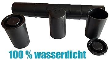 geo-versand 100 wei/ße Filmdosen mit Deckel 100/% wasserdicht