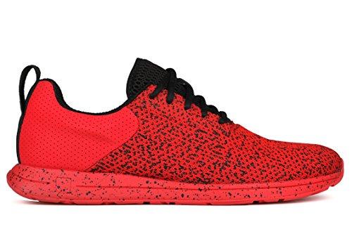 York Athletics Featherweight Knit Lightweight Training Sneaker, Unisex Running Shoe, Durable Knit, Mesh, Running Sneaker Ringside Red