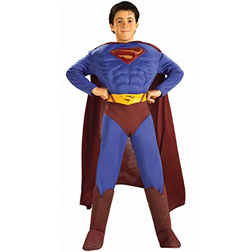 Superman Products : DC Comics Deluxe Muscle Chest Superman Child's Costume, Medium