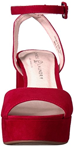 Laundry Suede Lollipop Chinese Heeled Women's Theresa Black Sandal Red HdOwPq