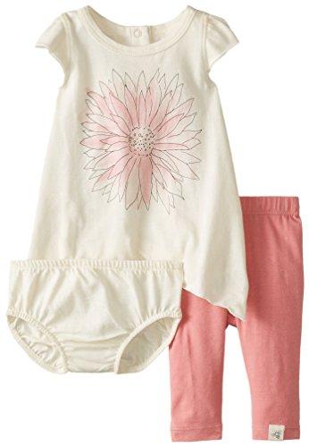 Burt's Bees Baby-Girls Organic Watercolor Dress and Capri Legging Set, Chrysanthemum, 24 Months