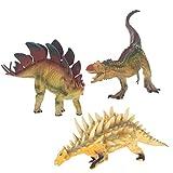 Class Collections Stegosaurus and Kentrosaurus T-Rex Dinosaur Figure Children s 8 inch 3 Piece Playset