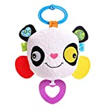 Royarebar Women's Accessories Cosmetic Mirror Kids Infant Lovely Panda Rolling Hand Grasp Mirrors Toy Colorful Safety Mirror Gift