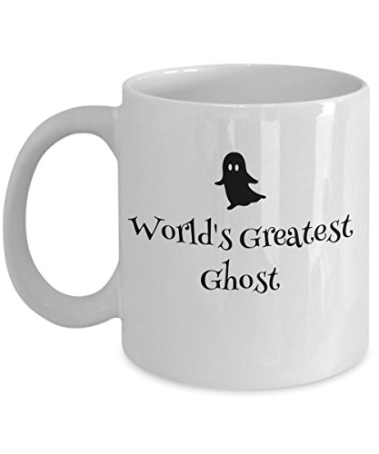 World's Greatest Ghost Coffee Mug - Ceramic Tea Cup Gift for Ghosts, Halloween Lovers - Funny Sayings Spooky -