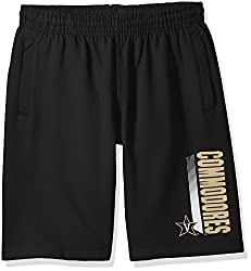 Ncaa Vanderbilt Commodores Cvc Fleece Shorts, Black, Small