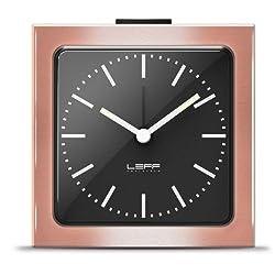 alarm clock block copper black index