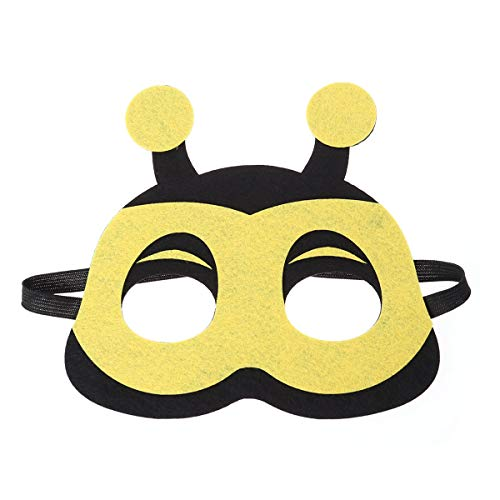 AMOSFUN Cartoon Animal Masks Half-face Eye Masks Cosplay Costume Supplies Party Favors for Kids Boys Girls -