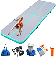 Air mat Tumbling track 10ft 13ft 16ft 20ft Gymnastics Mats Thickness 4 inches for Home Use/Gym/Yoga/Training/C