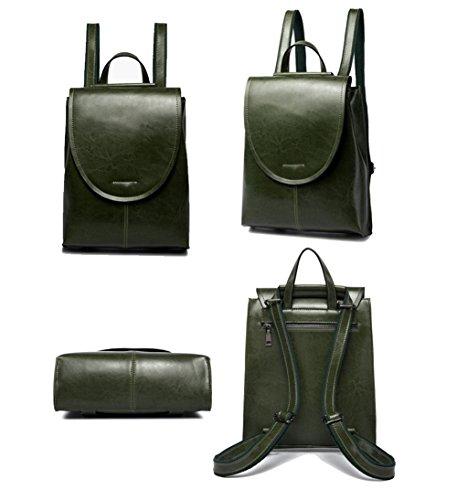 Elegante Mochila de moda Tendencias mujer Cuero la Crossbody Bolso 1 de Bolsa Black HopeEye mano verde de Cuero pWn6xcH6w