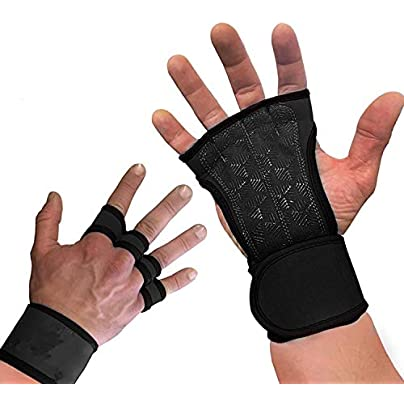 Sunonip Weightlifting Fitness Semi Finger Gloves Sports Hand Guards Wristbands Dumbbells Gym Gloves Riding Wrist Sleeve Estimated Price £8.29 -