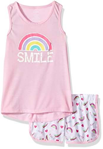 Candie's Big Girls' Tank and Short Set, Smile Pink/White, S by Candie's