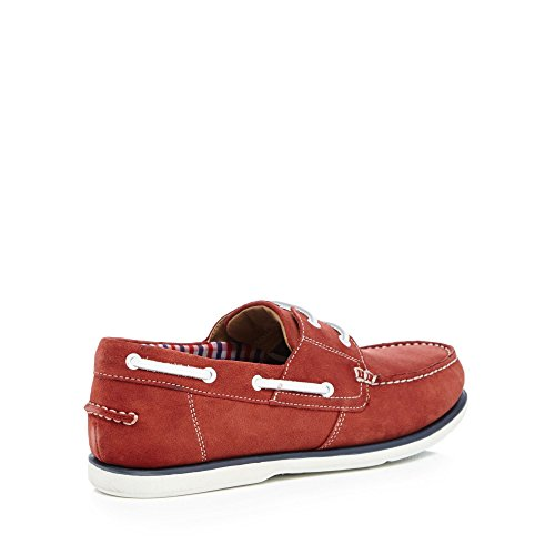 Debenhams Maine New England Men Red Suede 'Pontoon' Boat Shoes looking for online 8Xblm